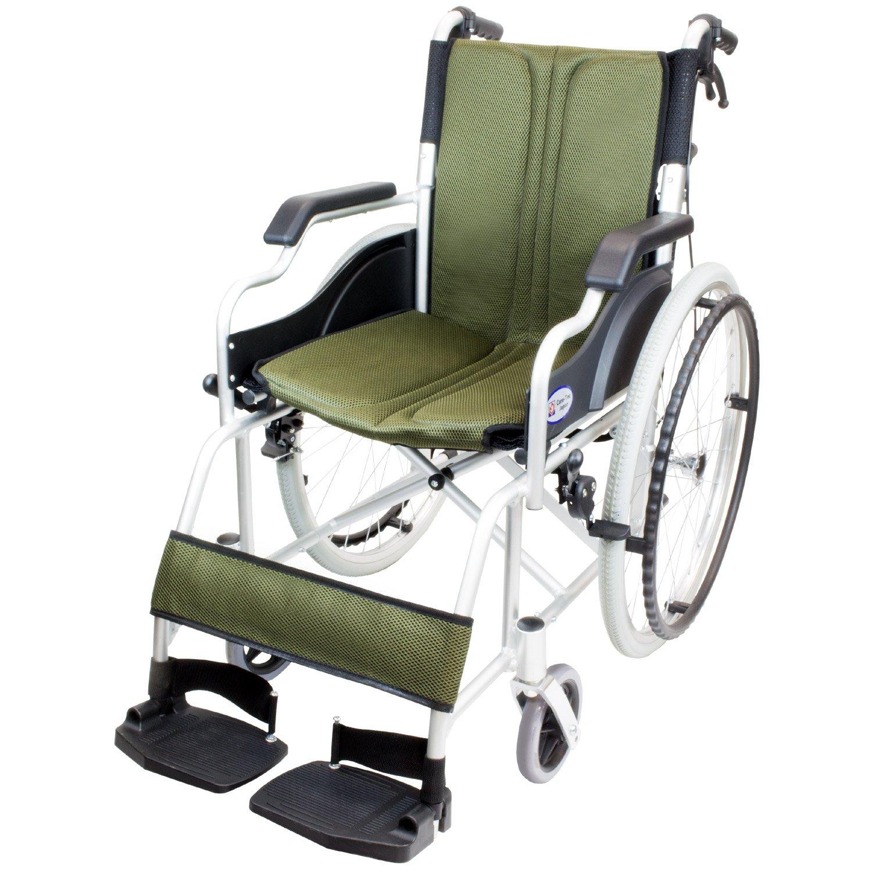 ケアテックジャパン 自走式車椅子 ハピネスコンパクト CA-10SUC (カーキ) B079SYLW3Y カーキ カーキ