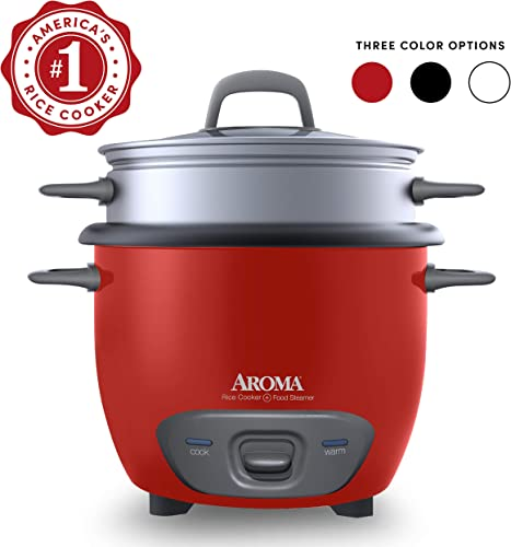 Aroma Housewares ARC-743-1NGR Olla arrocera y vaporera de alimentos estilo olla de 6 tazas