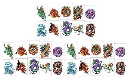 Amazon.com: Gran dragon tinta Tatuajes Temporales Para ...