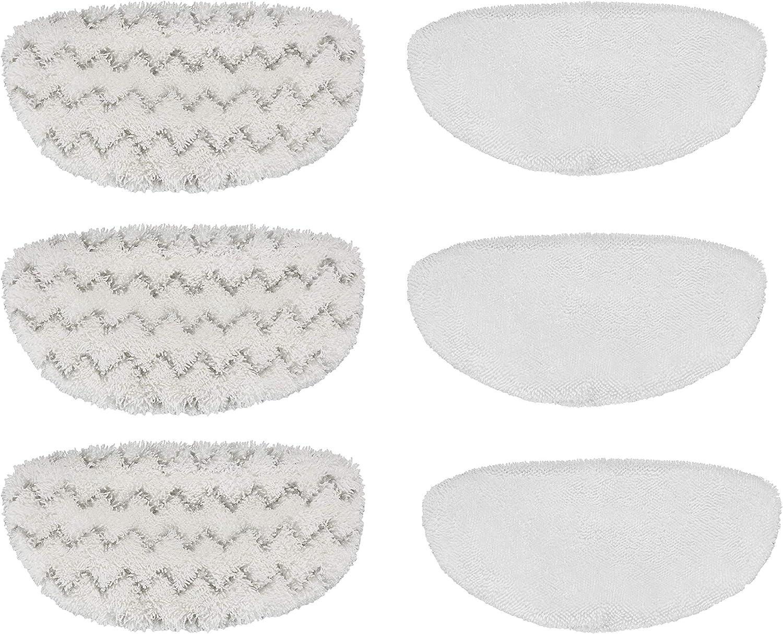 sostituisce i cuscinetti di pulizia Bissell 1252 Cuscinetti in microfibra Supremery 6x per cuscinetti di pulizia Bissell Vac e Steam Titanium Coperchi di ricambio lavabili