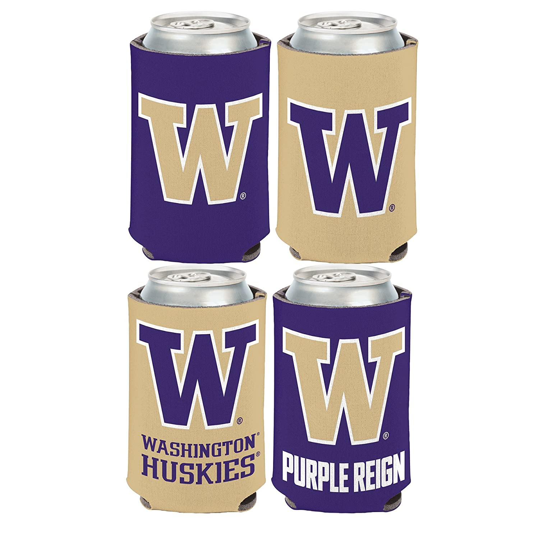 WinCraft NCAA University of Washington Huskies 2 PACK 12 oz 2-Sided Can Coolers
