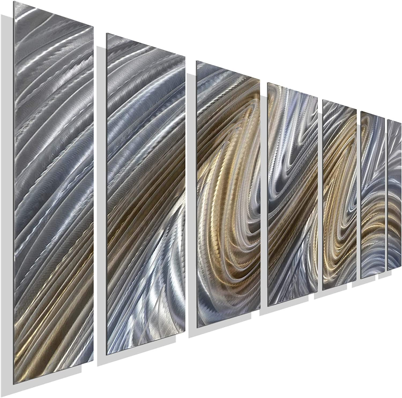 Statements2000 3D Metal Wall Art Painting Modern Silver Golden Decor Jon Allen