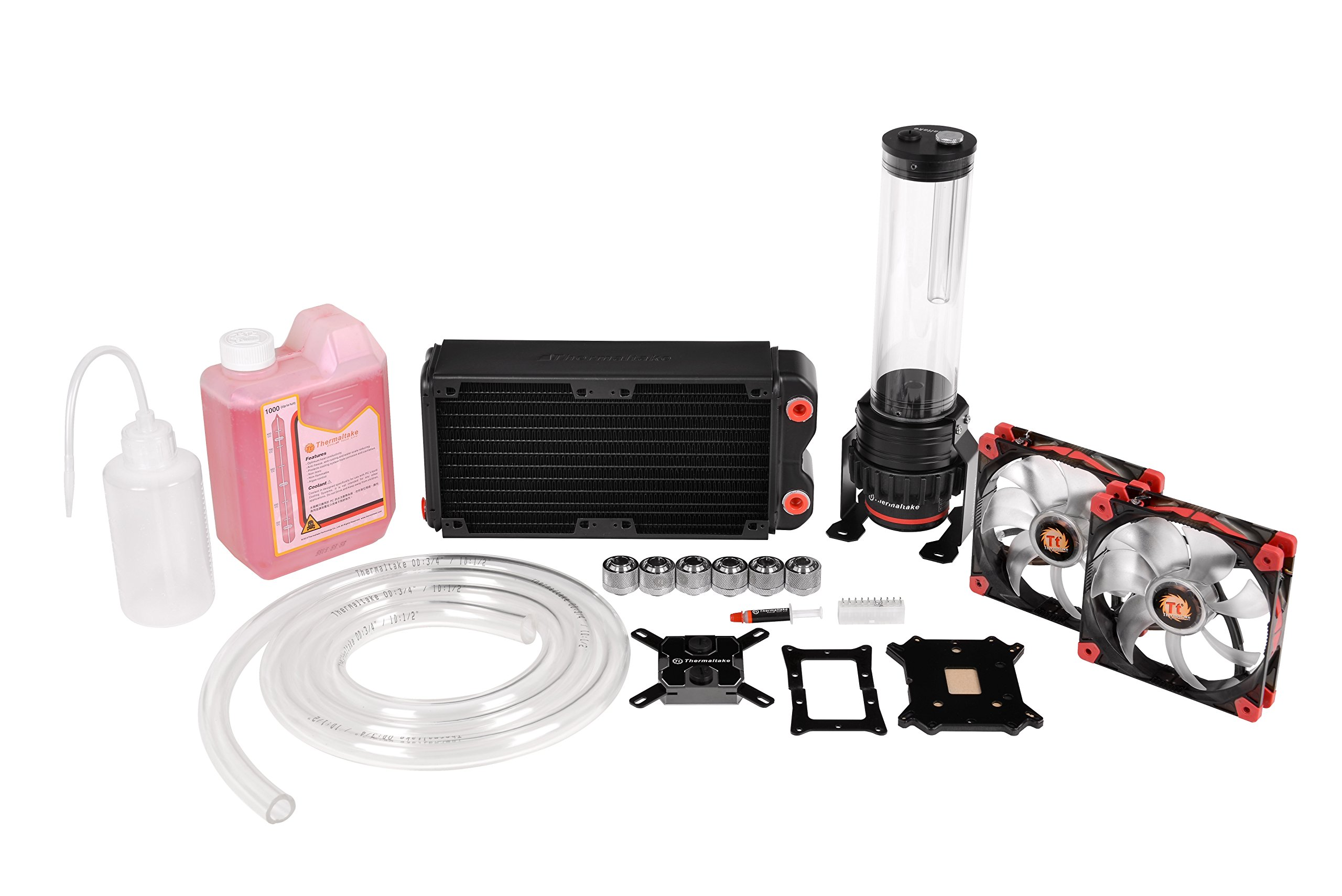 Thermaltake Pacific DIY LCS RL240 D5 Red/Pump Red Luna Fan Water Cooling Kit CL-W063-CA00BL-A by Thermaltake