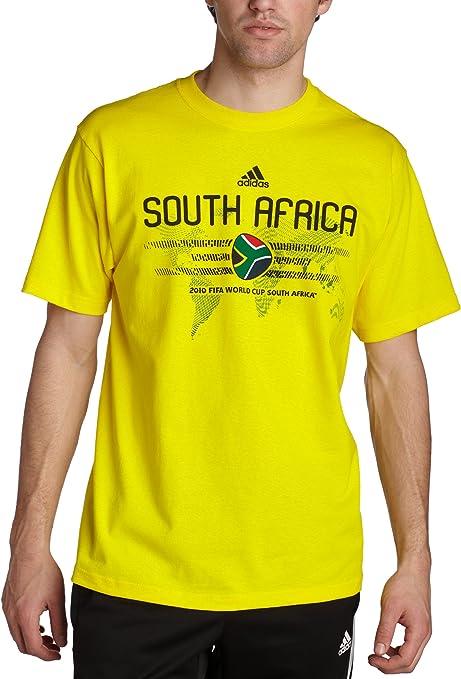 adidas Sudáfrica Camiseta de fútbol, International Soccer, Hombre, Color Sun/South Africa, tamaño Small: Amazon.es: Deportes y aire libre