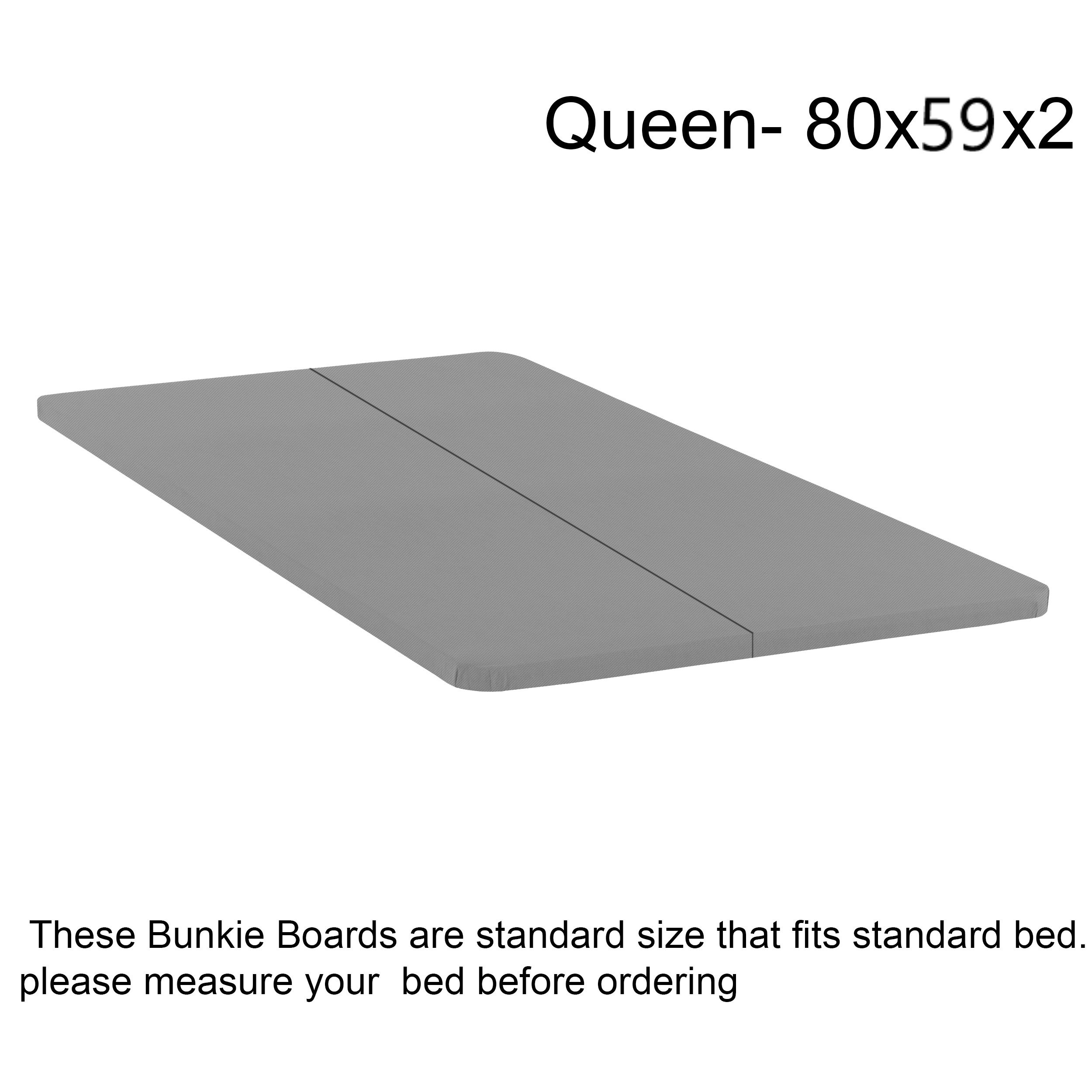 Mattress Solution BBy-5/0S Fully Assembled Foundation Bunkie Board, Split, Queen, Size by Mattress Solution