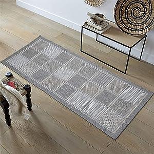"Ottomanson Jardin Collection sisal Rug, 2'7"" X7', Gray"