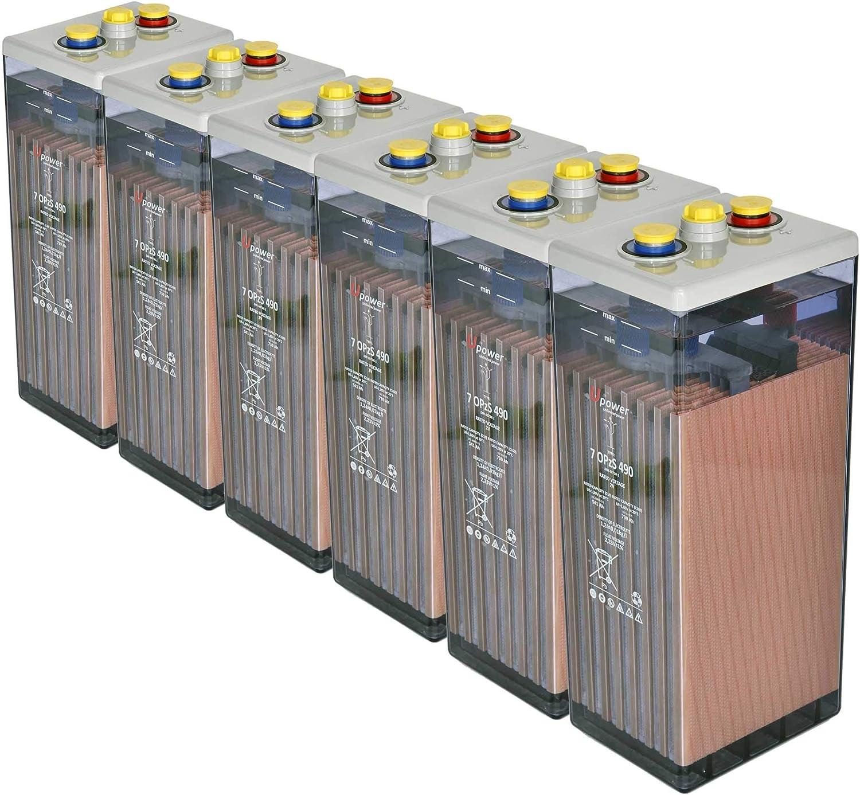 Bateria Solar, 7 OPZS 490 12V Mas de 20 años de Vida