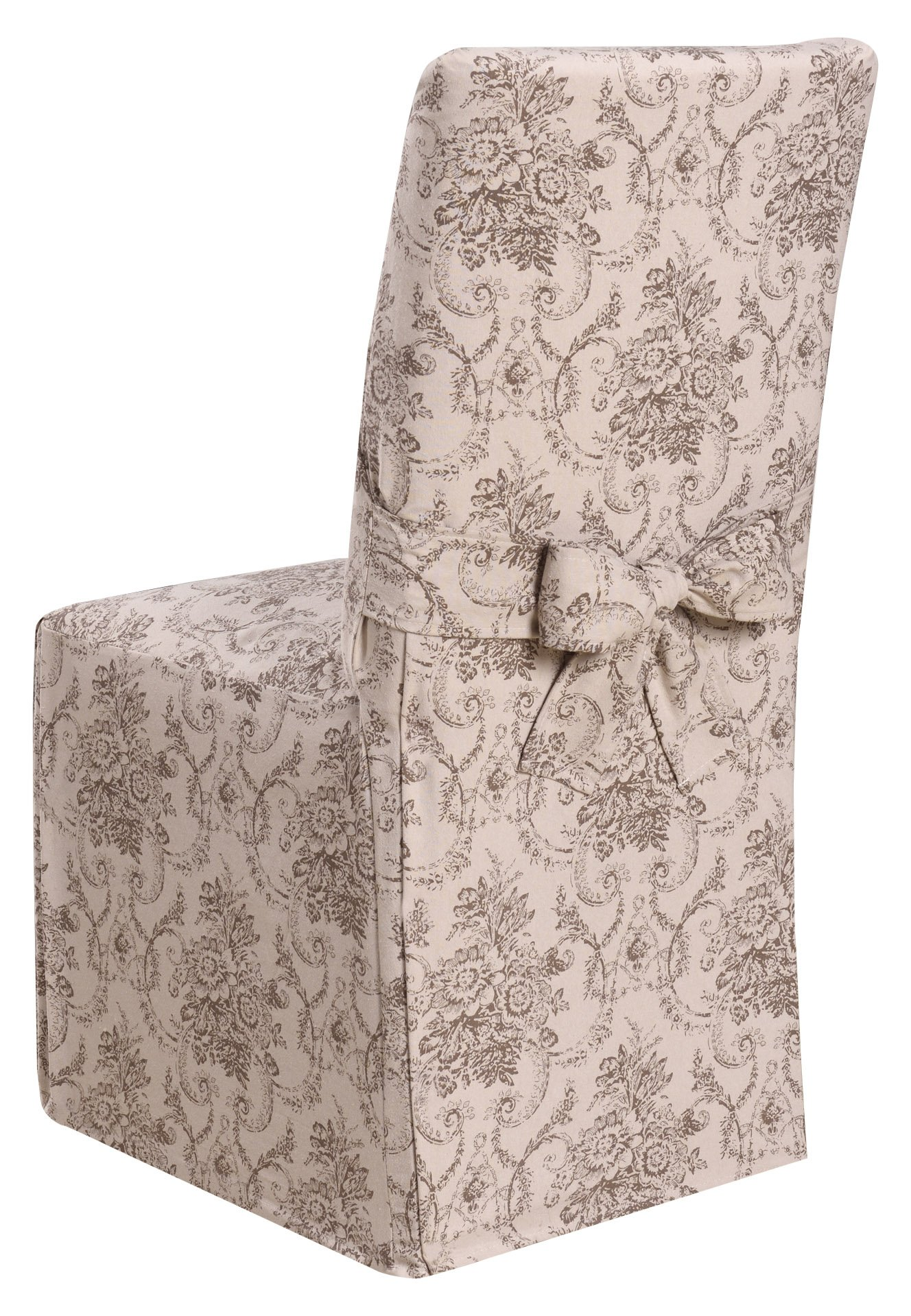 Madison Chateau Slipcover Slicover, Dining Room Chair, Taupe