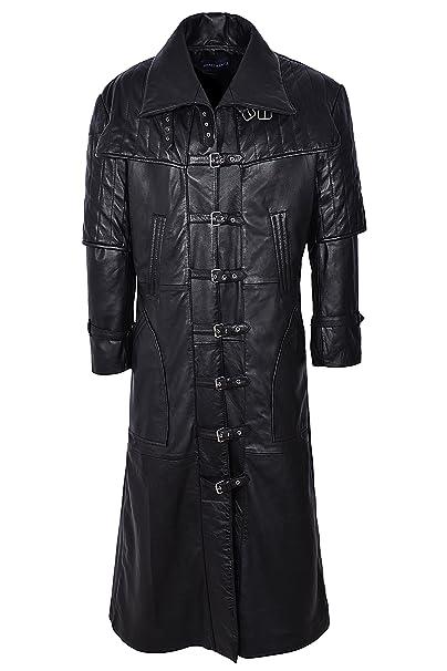 Smart Range Mens Captain Full Length Van Helsing Nappa Leather Jacket Coat