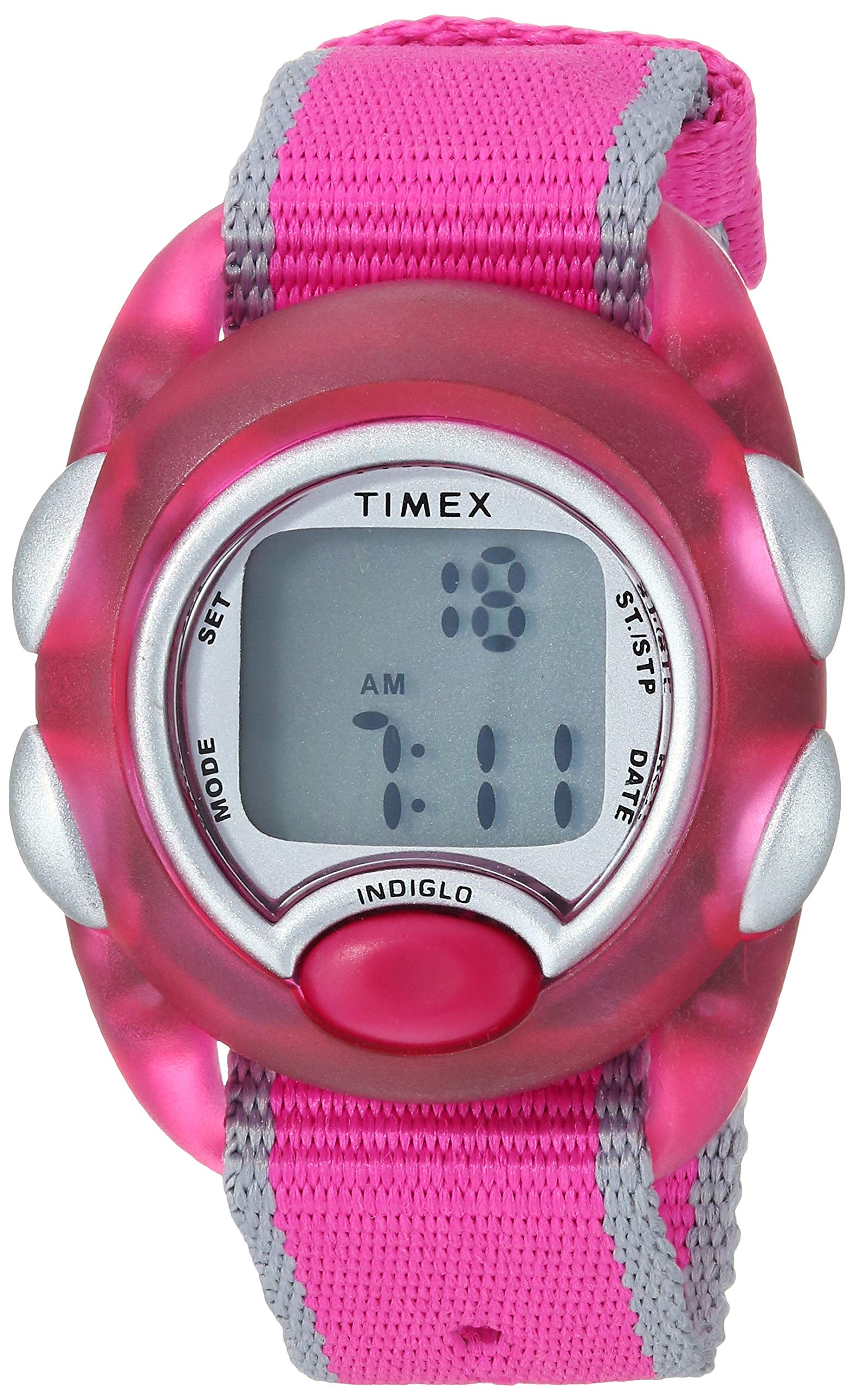 Timex Girls TW2R99000 Time Machines Digital Pink Fabric Strap Watch by Timex