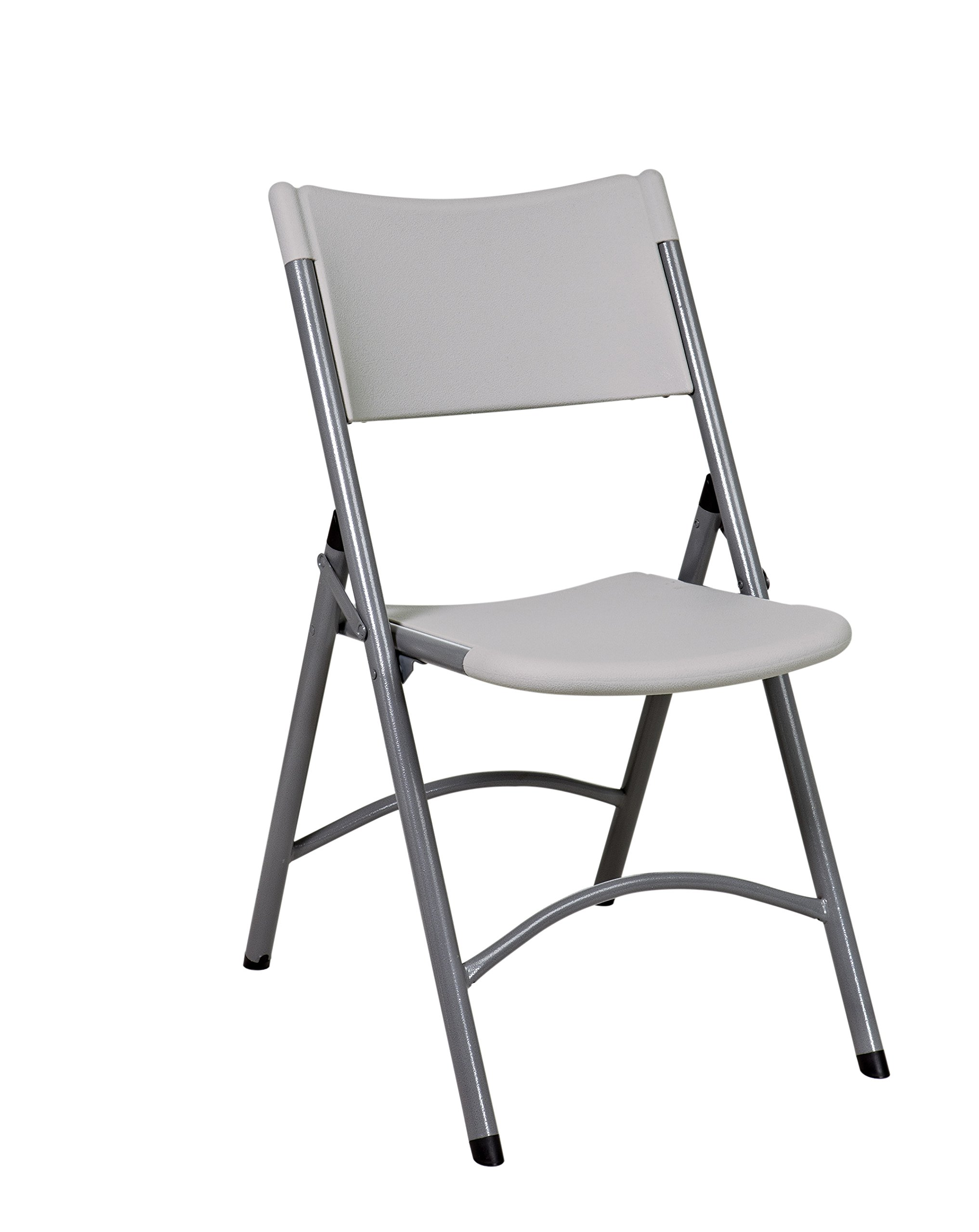 Office Star Resin Multi-Purpose Sqaured Folding Chair with Grey Accents, Set of 4 by Office Star