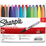 Sanford Sharpie 75846 Fine Point Permanent Marker, Assorted Colors, 24-Pack