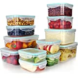 Vallo Plastic Food Containers with Lids for Food Storage - Safe for Dishwasher, Microwave, and Freezer - BPA Free, Perfect fo