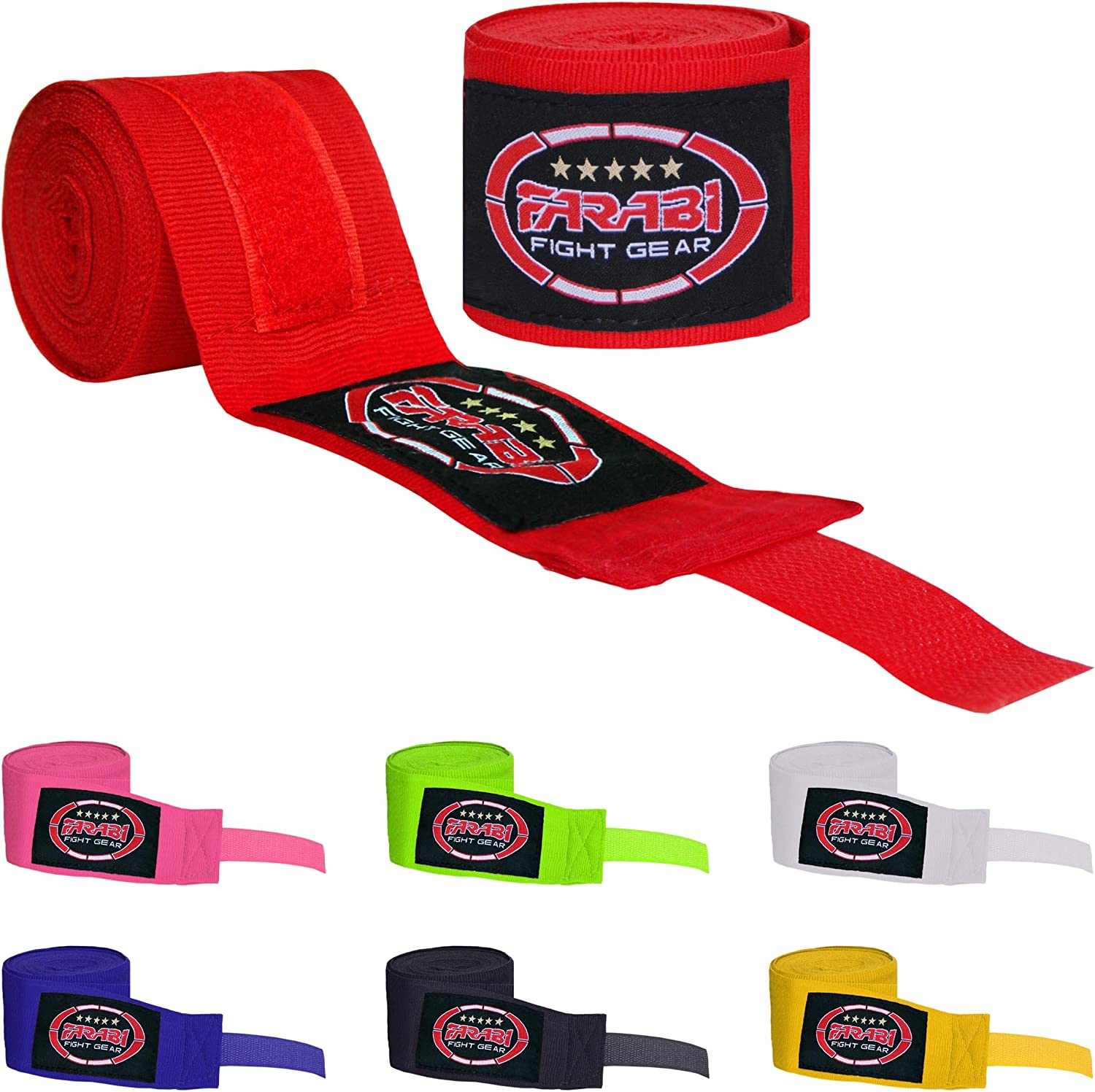 KIDS JUNIOR  HAND WRAPS WRIST SUPPORTS FOR MUAY THAI SPORTS TRAINING 1.5m