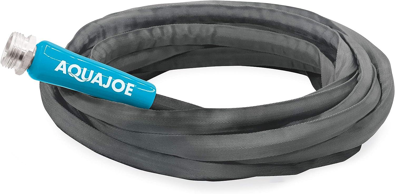 Aqua Joe AJFJH25-58-PRO FiberJacket Non-Expanding Kink-Free Garden, RV and Camper Hose, 25-Foot x 5/8-Inch