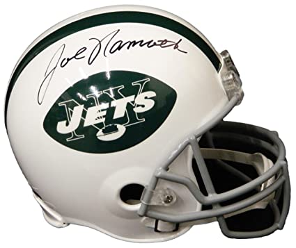 check out bd260 aa9f5 Amazon.com: Joe Namath Autographed Helmet - Riddell Full ...