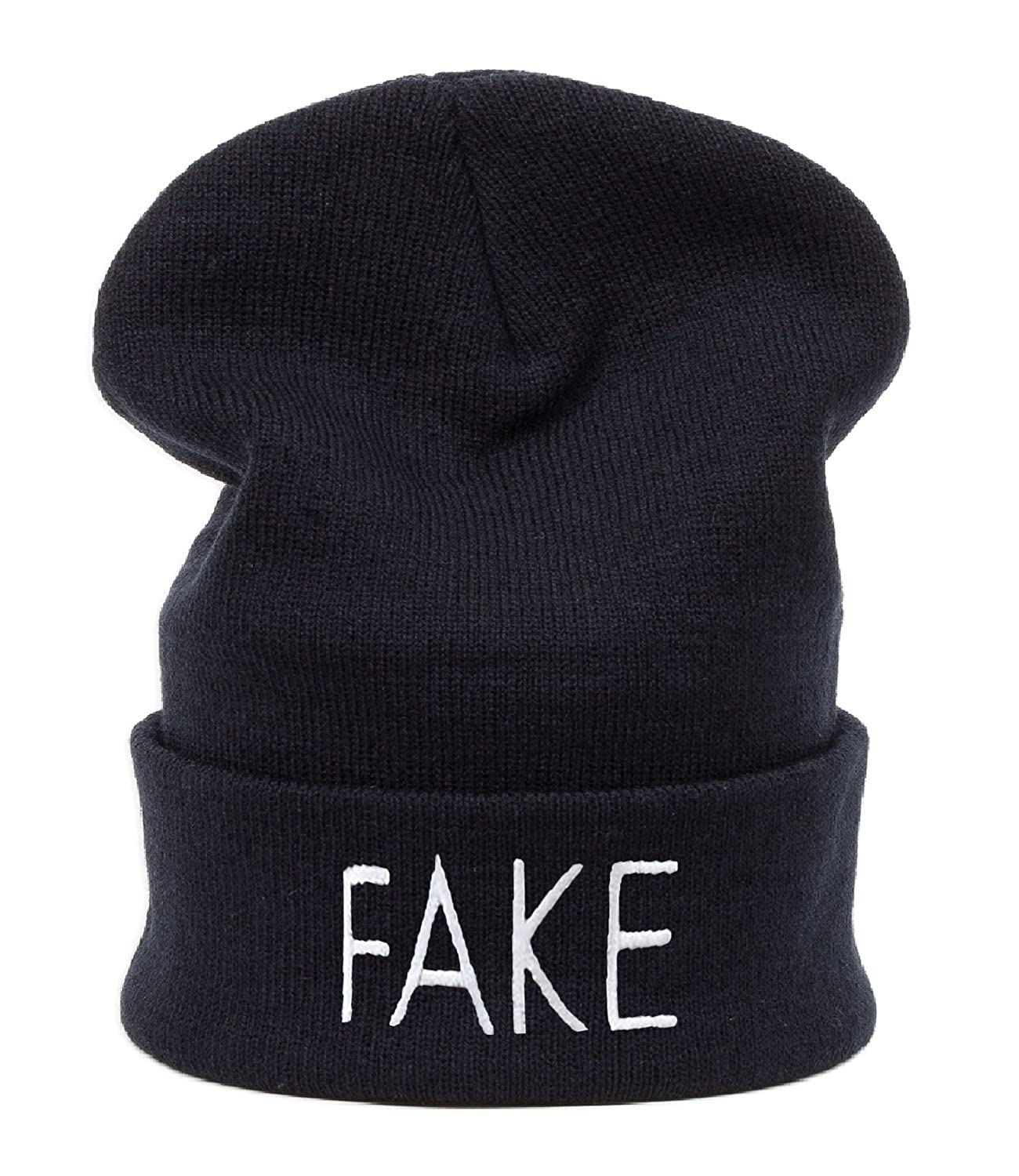 Beanie Mütze Damen Herren Bad Hair Day Easy Witch Trill Bastard Meow Swag Wasted DIE Fake Commes des 1994 HAT HATS, Morefazltd (TM) (FAKE)