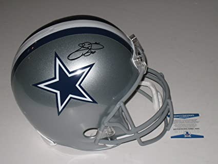 a45eb3cc9 Image Unavailable. Image not available for. Color  Emmitt Smith  22 Autographed  Dallas Cowboys Full Size FS NFL Helmet ...