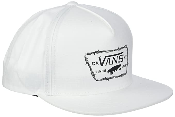 Vans_Apparel Full Patch Barbed Snapback, Gorra de béisbol para Hombre, Blanco (White Wht