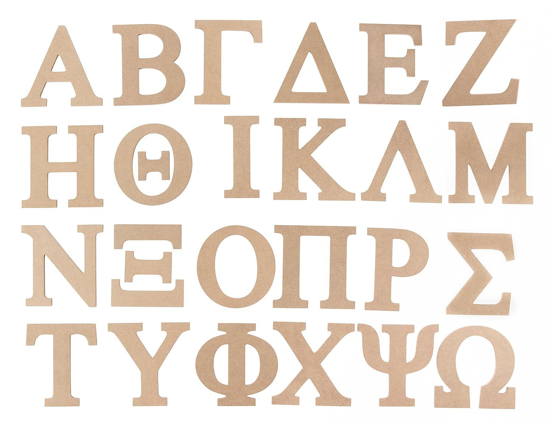 Download Wooden Greek Letter - 24-Pack Unfinished Wood Alphabet ...