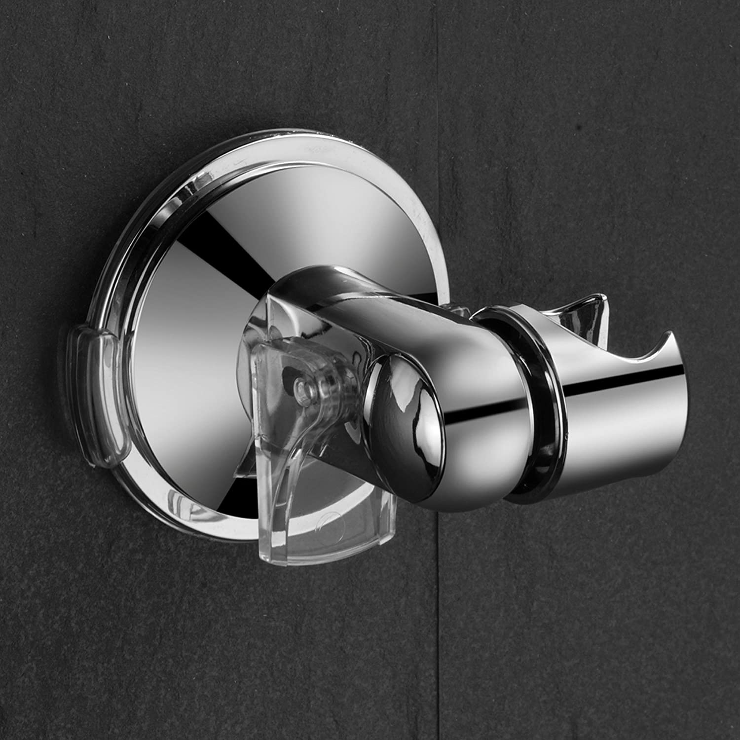 Patented Push-Lock provides Superior Suction/Power HotelSpa Universal/Angle-Adjustable/Hand/Shower/Wall/Bracket/for/Easy/Reach//Perfect/Angle/Fits ANY/SHOWER Self-Adhesive/Slide-in Holder/&nb