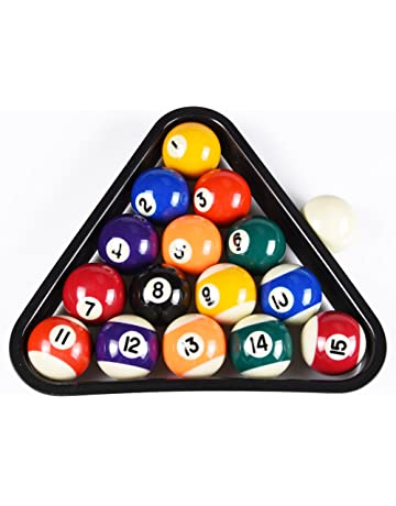 Tu0026R Sports USA Mini Pool Balls Set, 1.5 Inch Billiard Balls Set With  Triangle