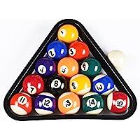 T & R Deportes EE. UU.–Juego de Mini Bolas de Billar, triángulo de Juego de Bolas de Billar de 1,5Pulgadas con Rack