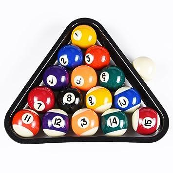 Tu0026R Sports USA Mini Pool Balls Set, 1.5 Inch Billiard Balls Set With  Triangle
