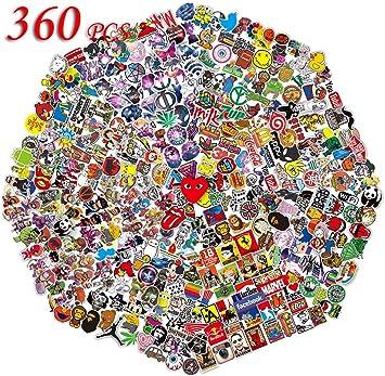 QWDDECO Sticker Pack (360 PCS) Vinilo Pegatinas para portátiles ...