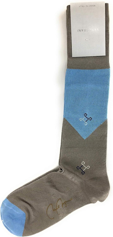 VK Nagrani Men/'s Dress Socks Over The Calf MIKE L353 DENIM