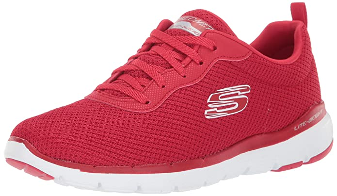 Skechers Flex Appeal 3.0 Sneakers Damen Rot (Red)
