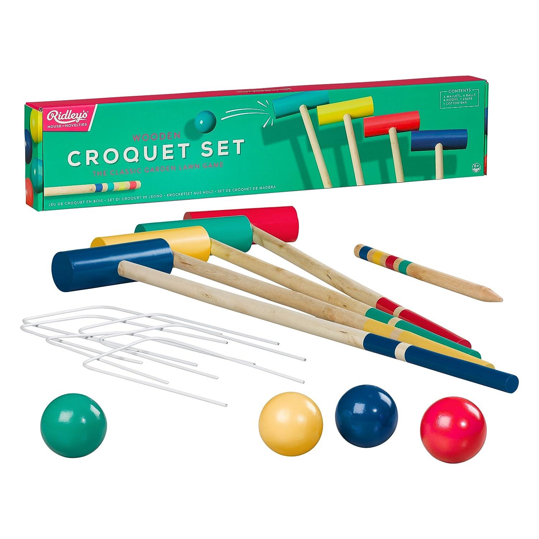 Ridleys ARID319 House of Novelties Croquet Set Pack of 14 Multicolor