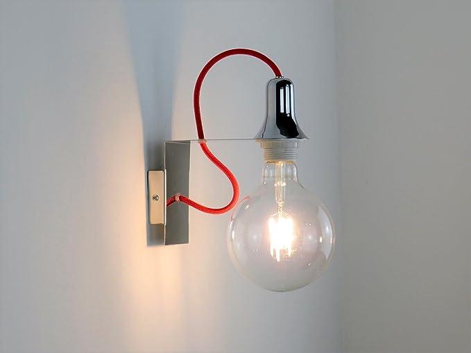 Illuminazione Design A Parete : Lampada parete applique design moderno cromo illuminazione interni