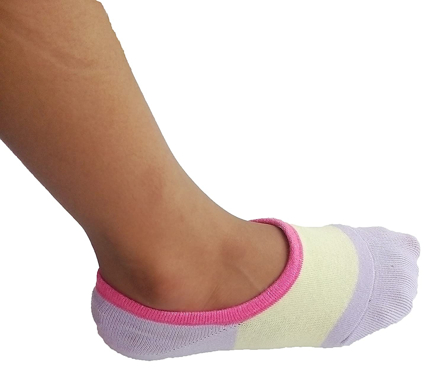 RATIVE Thin Flat Liner No Show Low Cut Cotton Socks For Kids Girls