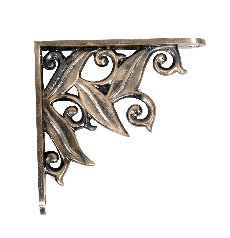 buy deco home aluminum shelf bracket lily 145 cm x 145 cm antique brass 1 piece online at low prices in india amazonin