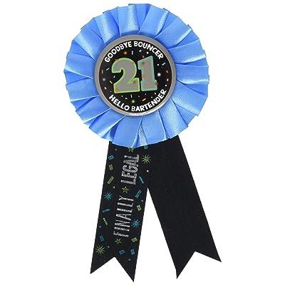 "21st ""Happy Birthday"" Award Ribbon: Kitchen & Dining"