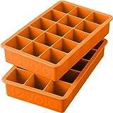 Tovolo Perfect Cube Ice Trays, Orange Peel - Set of 2
