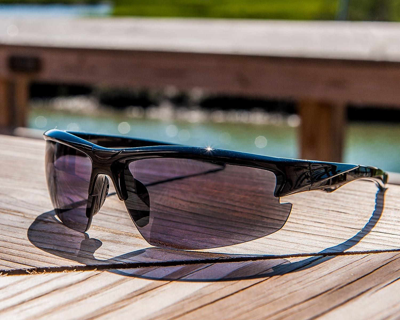414a8553a4 Amazon.com  Hilton Bay A59 Sunglasses Wrap Style UV400 Lens for Baseball