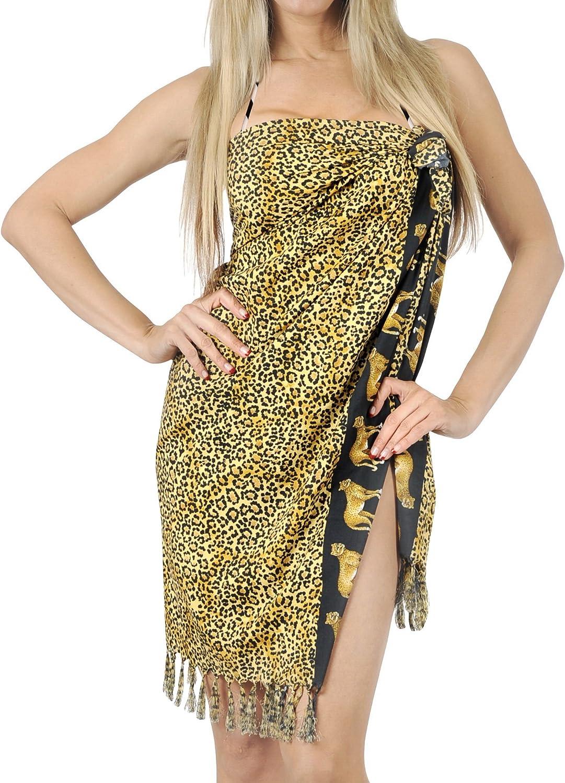 LA LEELA Womens Swimwear Pareo Beach Cover Up Sarong Wrap Skirts Full Long G
