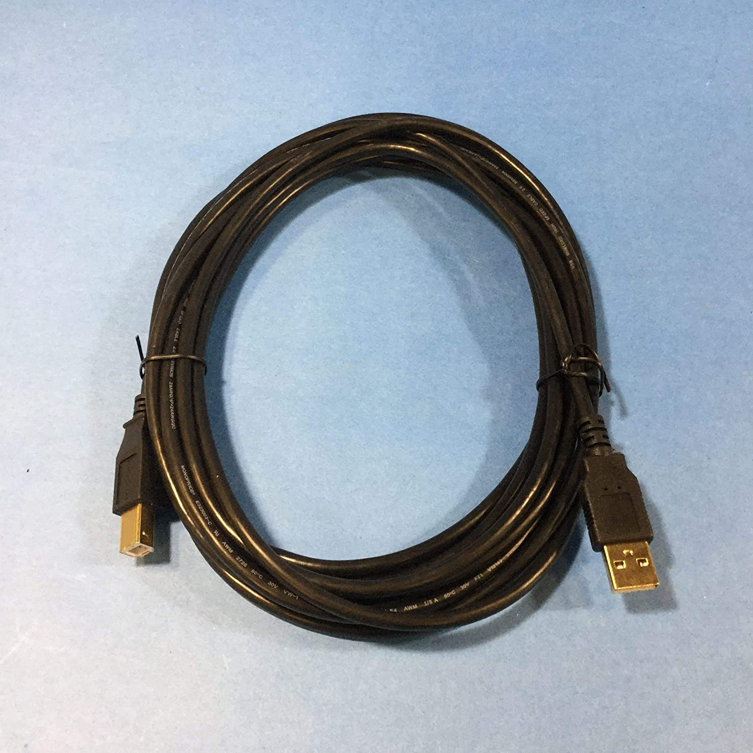 Monoprice 15-Feet USB 2.0 A Male to B Male 28//24AWG Cable Gold Plated 105440 ,Black