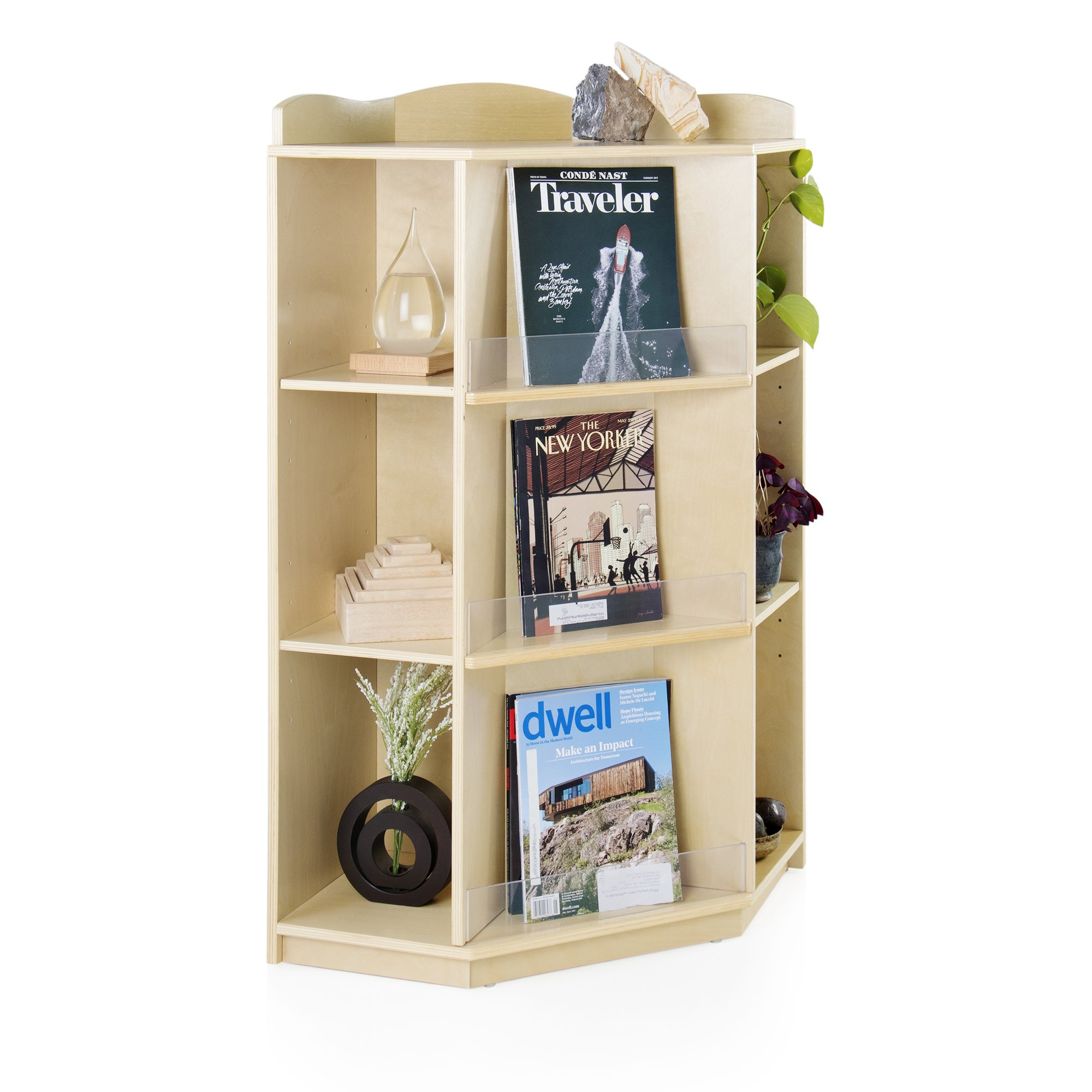 Corner Book Nook School Supply Kids Furniture - Bookcase, Book Display and Storage