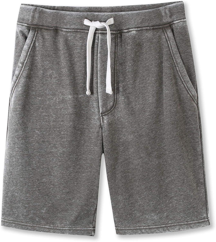 HETHCODE Mens Casual Athletic Fit Vintage Active Sports Jogger Gym Pocket Short
