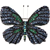 Alilang Colorful Rhinestone Swarovski Element Butterfly Brooch Pin