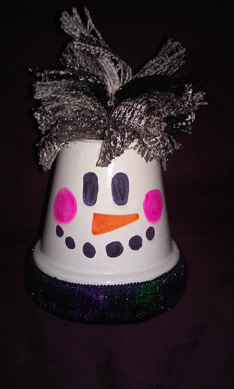 Amazon.com & Amazon.com: Clay Pot Snowman: Handmade