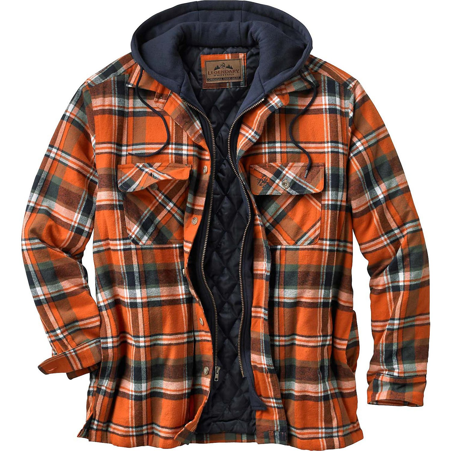 Legendary Whitetails Maplewood Hooded Shirt Jacket, Tomahawk Plaid, Small by Legendary Whitetails