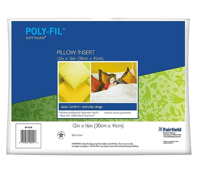 Amazon.com: Fairfield poly-fil rectángulo almohada de tacto ...