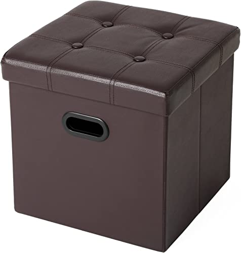 SONGMICS 15″ x 15″ x 15″ Storage Ottoman Cube/Footrest Stool/Puppy Step/Coffee Table