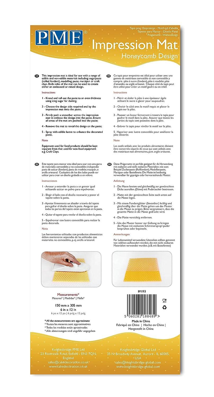 Amazon.com: PME Honeycomb Design Impression Mat, One Size, Transparent: Kitchen & Dining