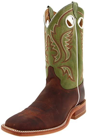 f91347686c7 Justin Boots Men's U.S.A. Bent Rail Collection 11 quot  Boot Wide Square  Double Stitch Toe Leather