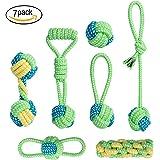 ZeWoo 7 Pezzi Giocattolo della Corda del Cane, masticare giocattoli scioccanti per cane da medio a piccolo